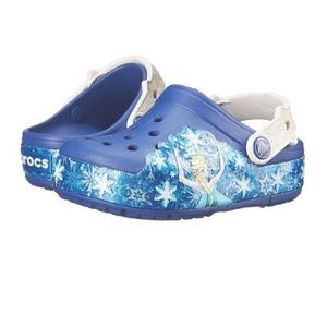 Frozen light up crocs clog